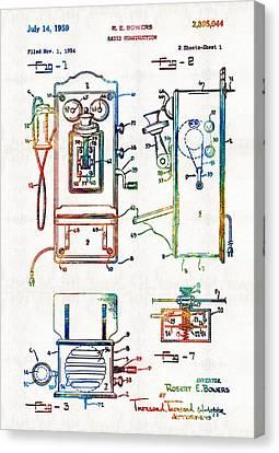 Vintage Telephone Radio Art - Radio Construction - By Sharon Cummings Canvas Print by Sharon Cummings
