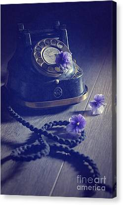 Vintage Telephone Canvas Print by Amanda Elwell