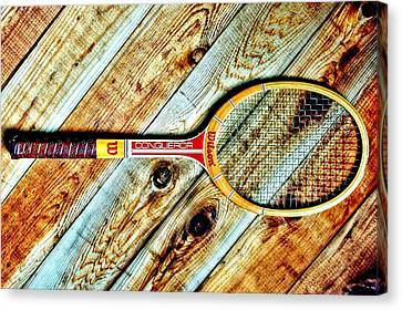 Vintage Tennis Canvas Print by Benjamin Yeager
