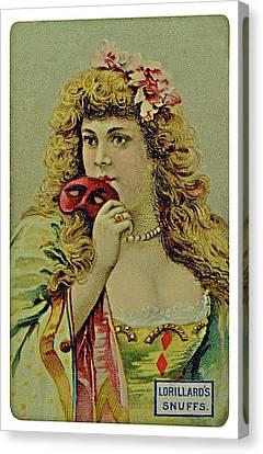 Vintage Tobacco Or Cigarette Card Canvas Print by Susan Leggett