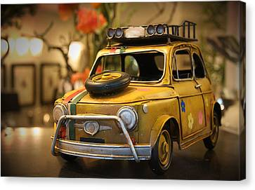 Vintage Toy Car 2 Canvas Print by Marvin Blaine
