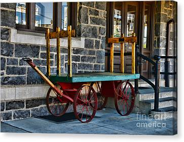 Vintage Train Baggage Wagon Canvas Print by Paul Ward
