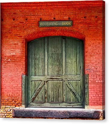 Vintage Train Depot Receiving Door - Augusta Canvas Print