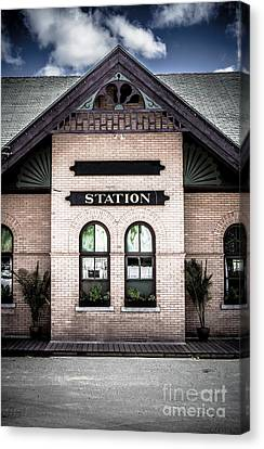 Vintage Train Station Canvas Print by Edward Fielding
