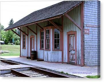 Vintage Train Station Canvas Print