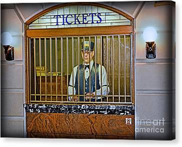 Vintage Train Ticket Booth Canvas Print