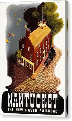 Vintage Travel - Nantucket Canvas Print
