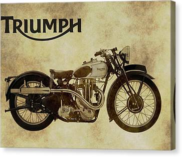 Vintage Triumph Motorcycles Canvas Print by Dan Sproul