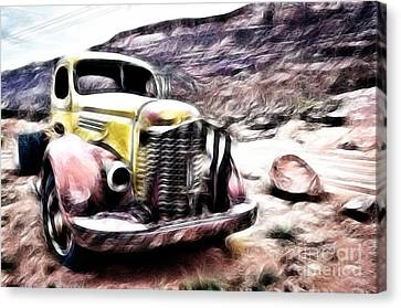 Vintage Truck Canvas Print by Delphimages Photo Creations