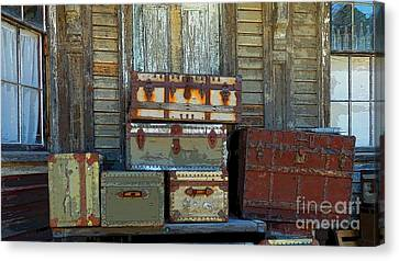 Vintage Trunks   Sold Canvas Print