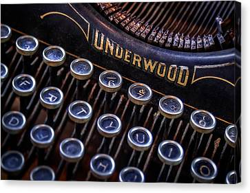 Vintage Typewriter 2 Canvas Print by Scott Norris