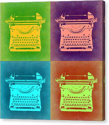 Vintage Typewriter Pop Art 1 Canvas Print