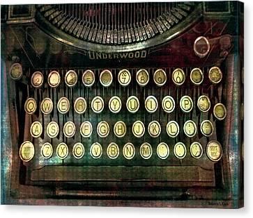 Vintage Underwood Typewriter Canvas Print by Bellesouth Studio