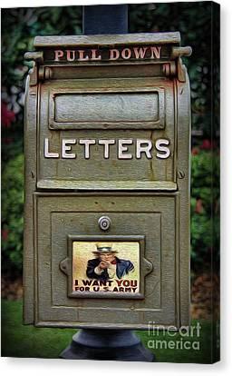 Vintage Us Mailbox II Canvas Print