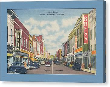 Vintage Va Tn Postcard Kress  Canvas Print by Denise Beverly