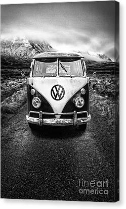 Vintage Vw Camper Canvas Print