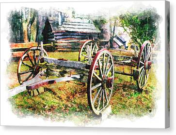 Vintage Wagon On Blue Ridge Parkway IIi Canvas Print by Dan Carmichael