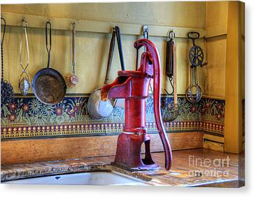 Old Home Place Canvas Print - Vintage Water Pump by Juli Scalzi