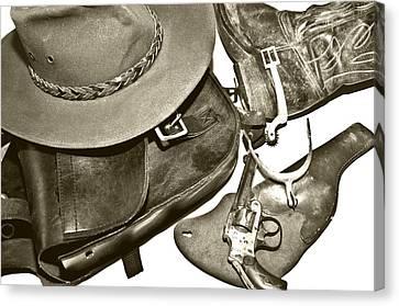 Vintage Western Canvas Print by Susan Leggett