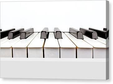 Vintage White Piano Canvas Print by Kitty Ellis