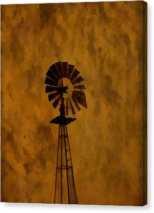 Vintage Windmill  Canvas Print by Dan Sproul