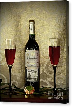 Vintage Wine Lovers Canvas Print by Inspired Nature Photography Fine Art Photography