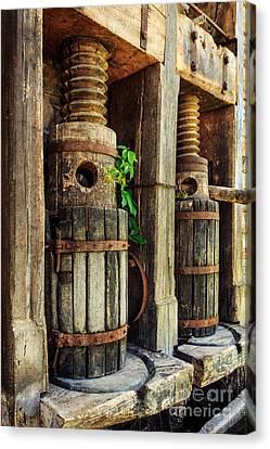 Vintage Wine Press Canvas Print