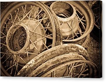 Vintage Wire Wheels Canvas Print by Steve McKinzie