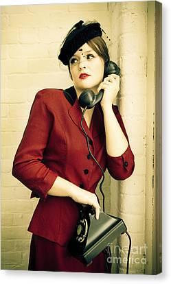 Vintage Woman Canvas Print by Diane Diederich