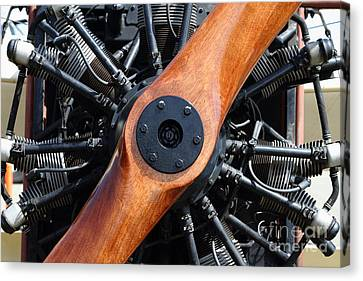 Vintage Wood Propeller - 7d15828 Canvas Print by Wingsdomain Art and Photography