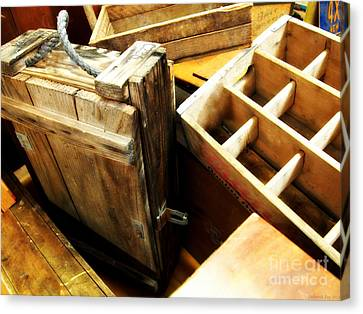 Vintage Wooden Boxes Canvas Print