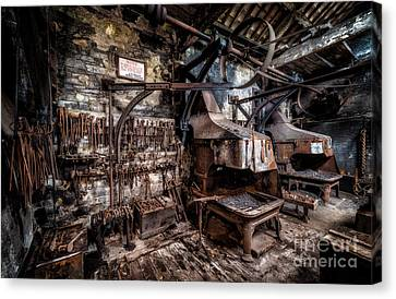 Beam Canvas Print - Vintage Workshop by Adrian Evans