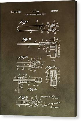 Vintage Wrench Patent Canvas Print