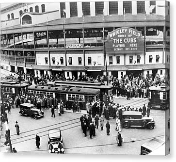 Cubs Canvas Print - Vintage Wrigley Field by Horsch Gallery