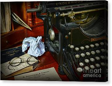 Vintage Writers Desk Canvas Print