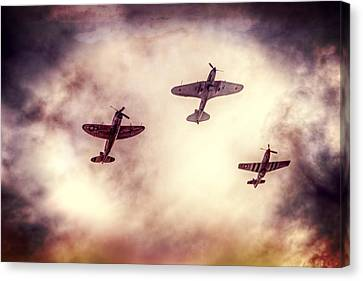 Vintage Wwii Aircraft Canvas Print by Spencer McDonald