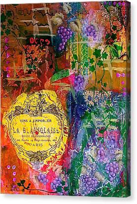 Vintner Label Canvas Print by Bellesouth Studio