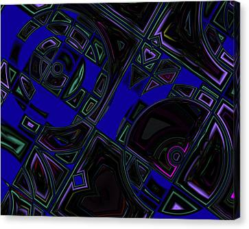 Vinyl Blues Canvas Print by Judi Suni Hall