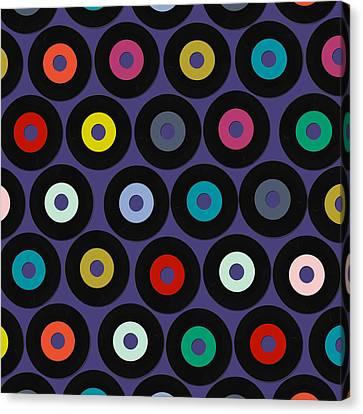 Vinyl Violet Canvas Print