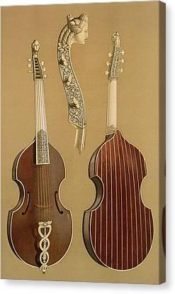 Viola Da Gamba, Or Bass Viol Canvas Print by Alfred James Hipkins