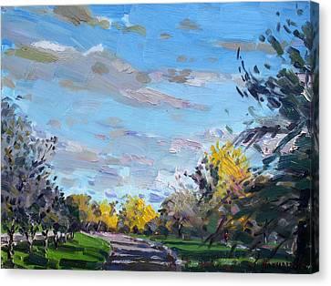 Niagara Falls Canvas Print - Viola Jogging by Ylli Haruni