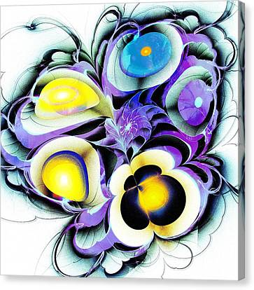 Viola Tricolor Canvas Print by Anastasiya Malakhova