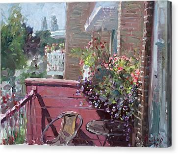 Mississauga Canvas Print - Viola's Balcony by Ylli Haruni