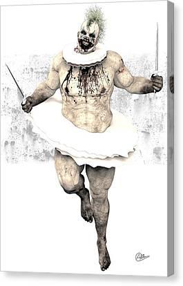 Creepy Canvas Print - Scary Clown  by Quim Abella