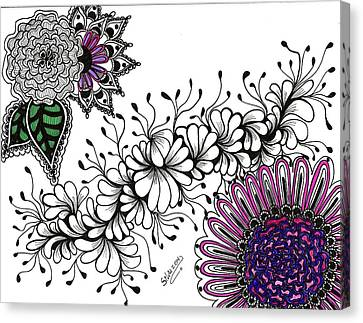 Violet Algae Canvas Print