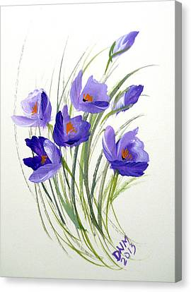 Violet Crocus Canvas Print