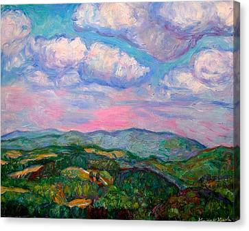 Violet Evening On Rocky Knob Canvas Print by Kendall Kessler