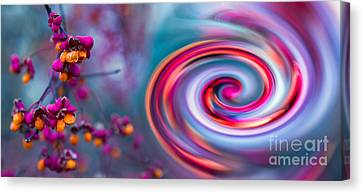 Violet Fall Blossom Collage Canvas Print by Hannes Cmarits