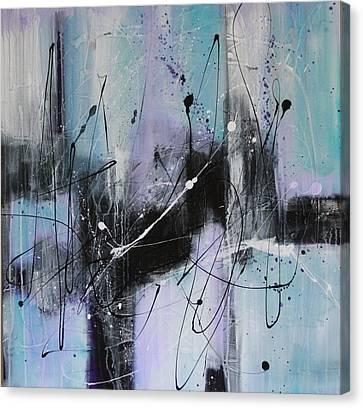 Violet Fields Canvas Print by Lauren Petit