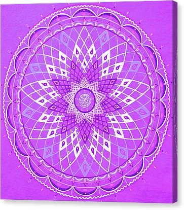 Violet Mandala Canvas Print by Vlatka Kelc